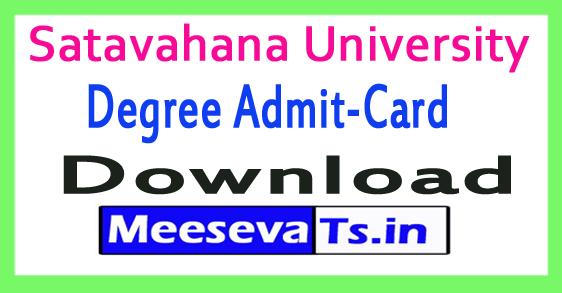 Satavahana University SU Degree Exam Hall Ticket Download 2018