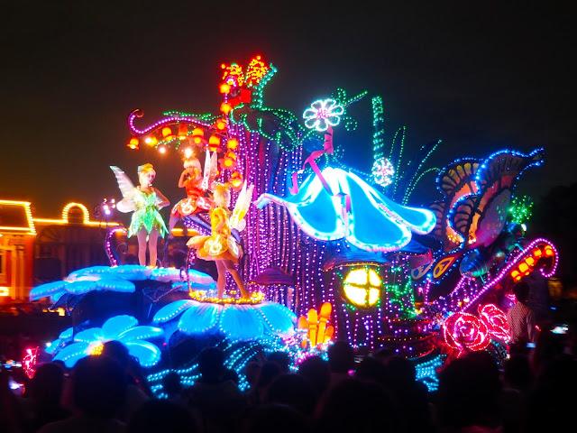 Tinkerbell float, Dreamlights parade, Tokyo Disneyland, Japan