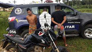 SUSPEITOS DE REALIZAREM ASSALTOS EM IBIAPINA SÃO DETIDOS PELO BPRAIO DE SÃO BENEDITO