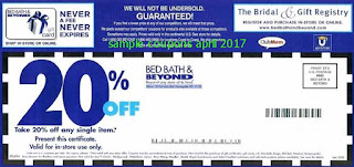 Bed Bath and Beyond coupons april 2017