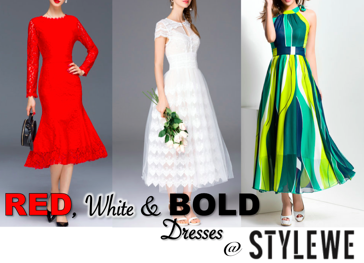 StyleWe, Red, White & Bold Dresses at StyleWe