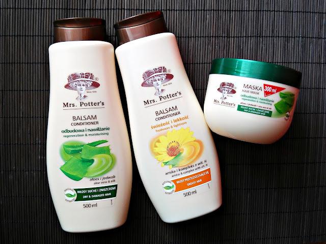 HAUL kosmetyczny - Kosmetyki do pielegnacji włosów z Biedronki, balsamy do włosów Mrs. Potter's