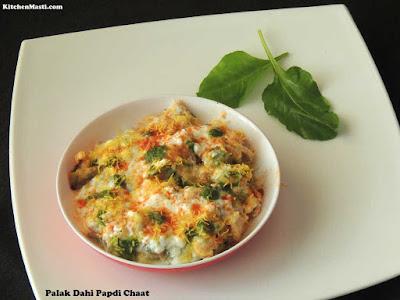 Palak+Dahi+Papdi+Chaat