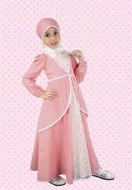 Model Gaun Pesta Muslim Brokat Sifon Anak Perempuan