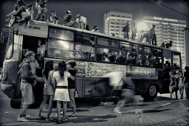 Bajak Bus Jakarta by Charlie Hartono