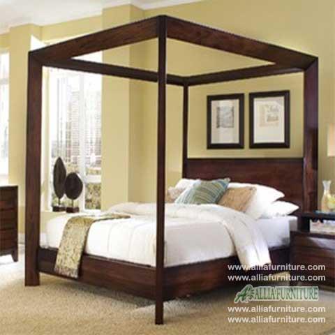 tempat tidur minimalis kanopi cordoba