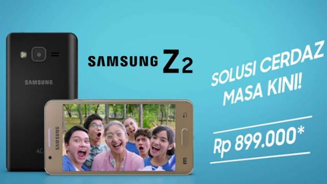 Harga dan Spesifikasi Samsung Z2 di Indonesia, Ponsel Tizen Terbaru
