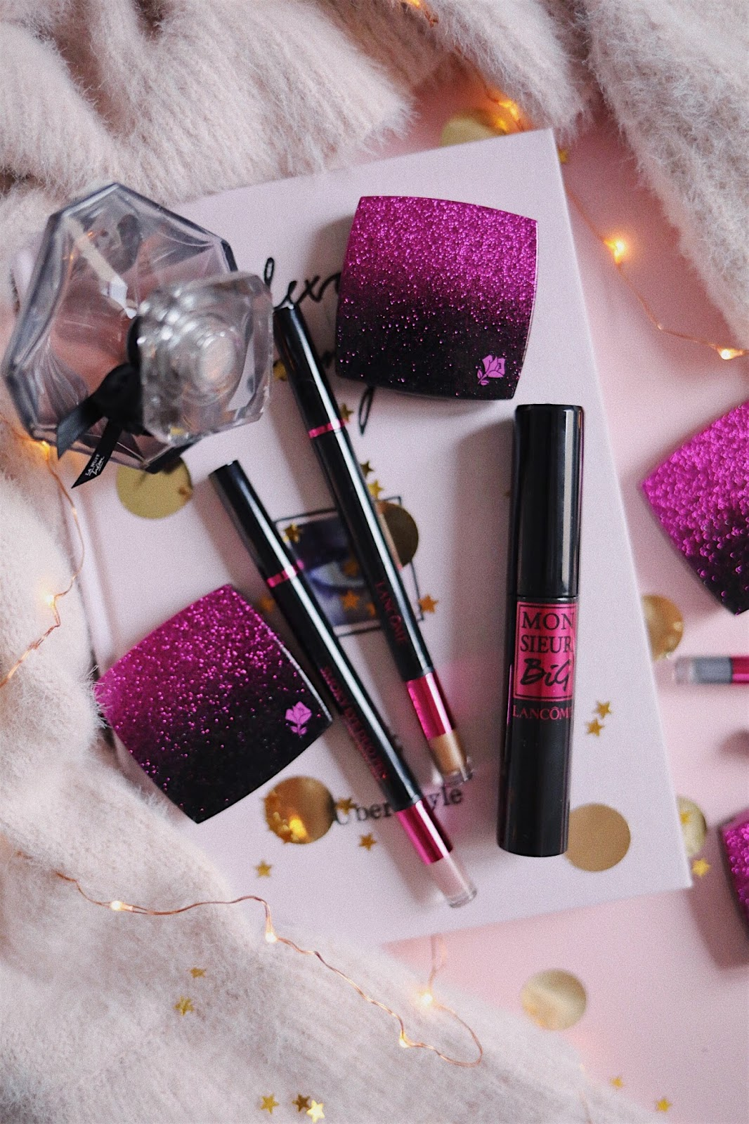 Lancôme,Sephora,Instatrend,Ombre Hypnose Ultra,Smoky Duo Pen ,Monsieur Big , Mascara , Revue , Avis , Swatch , Edition limitée , Noël,Sparklings Blacks,rosemademoiselle , rose mademoiselle,