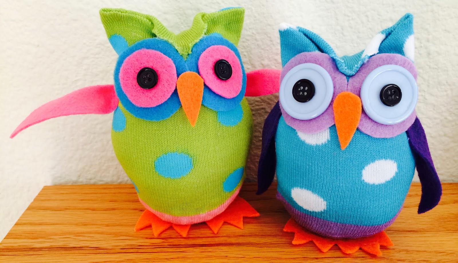 Kathy's AngelNik Designs & Art Project Ideas: No Sew Sock Owls