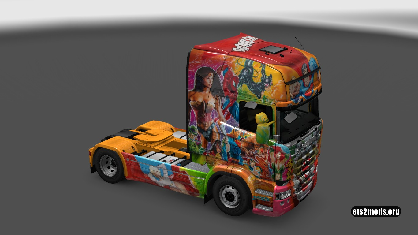 Tempelton Superheros Skin for Scania RJL