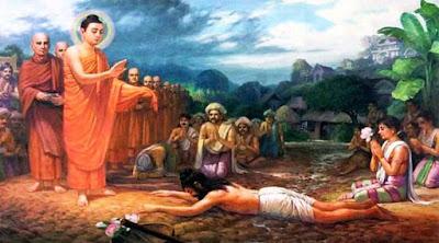 Người gánh phân nghèo gặp Đức Phật trong ngõ hẻm