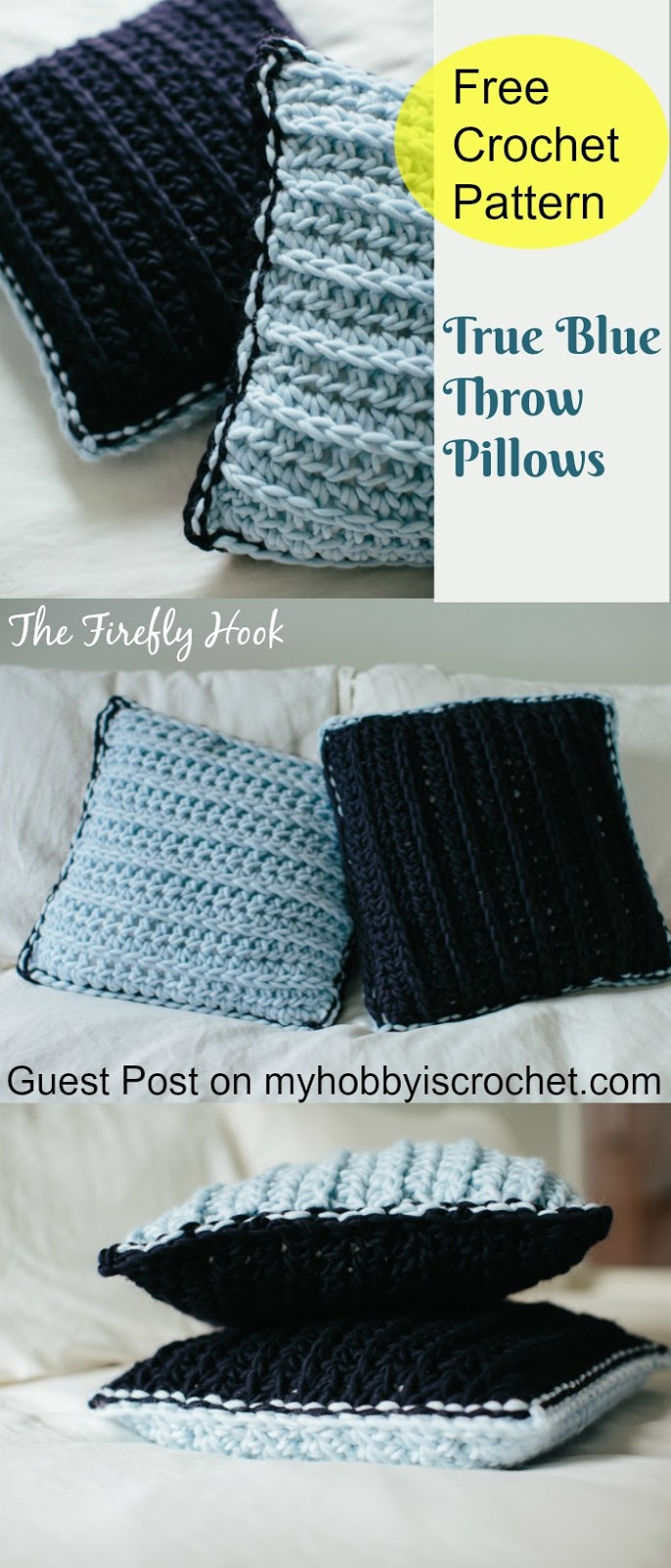 My hobby is crochet true blue throw pillows free crochet true blue throw pillows free crochet pattern from guest contributor bankloansurffo Gallery