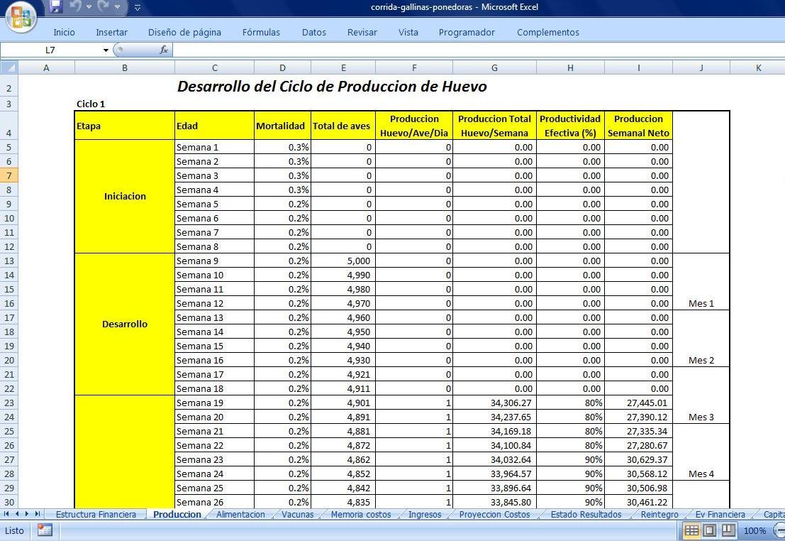 Gratis Analisis Financiero Proyecto De Gallinas Ponedoras
