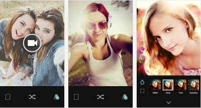 Aplikasi Kamera  B612 – Selfie with the heart