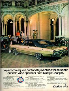 propaganda Dodge Charger - 1972, década de 70, Dodge Dart 1971, chrysler anos 70, carro antigo chrysler, anos 70,  propaganda anos 70, Oswaldo Hernandez,