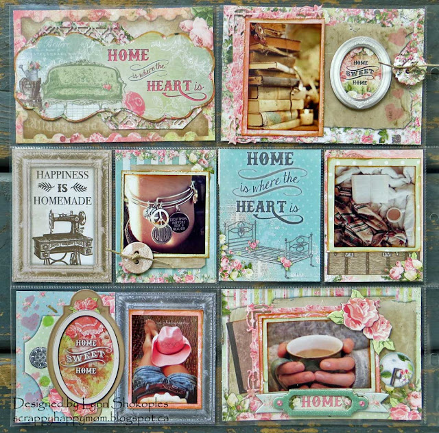 Home Misc.Me 12x12 Layout by Lynn Shokoples for BoBunny featuring the Soiree Collection and Imagine Crafts.