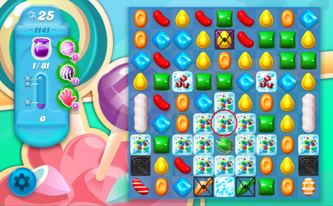 Candy Crush Soda Saga level 1141