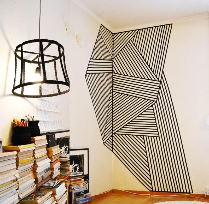 Décoration murale avec masking tape en 25 idées fantastiques