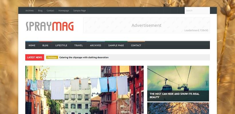 Spraymag Free Blogger Template
