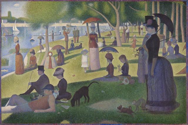 A Sunday on La Grande Jatte painting by Seurat