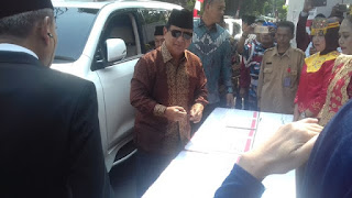 Rayakan HUT Ke-72 RI, Prabowo Enggan Bicara Pilkada Jabar