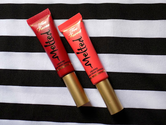 Andra  Mălin : Too Faced Melted || Melted Melon & Melted Ruby || REVIEW