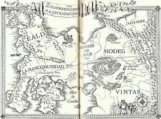 Mapa del universo ficticio de El nombre del viento