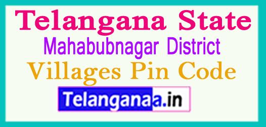 Mahabubnagar District Pin Codes in Telangana State