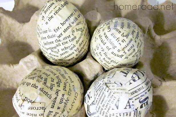 How to Make Newsprint Easter Eggs