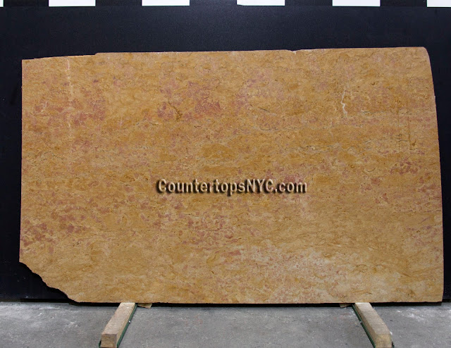 Giallo Reale Marble Slab NYC 3cm