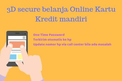 3D Secure Code Kartu Kredit Bank Mandiri untuk Belanja Online
