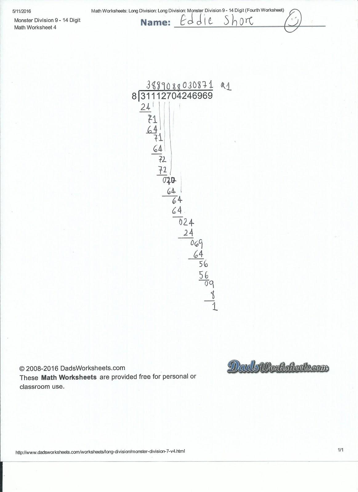 Dadu S Worksheets Spaceship Math Subtraction