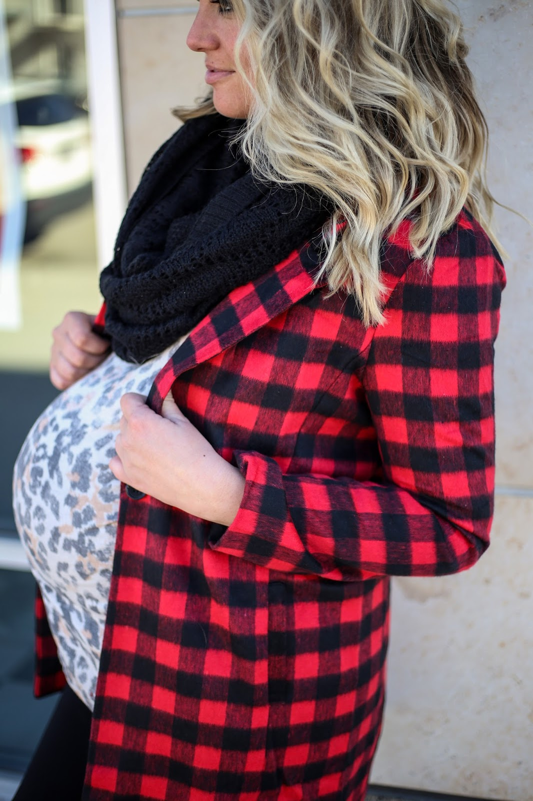 Plaid Coat, Leopard Print, Utah Fashion Blogger, Modest Outfit