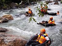 Serunya Wisata River Tubing Desa Lanne, Arung Jeram Menyusuri Sungai Dengan Ban