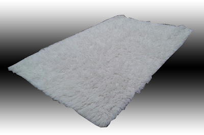 Uhuru Furniture Collectibles White Wool Flokati Area Rug Sold