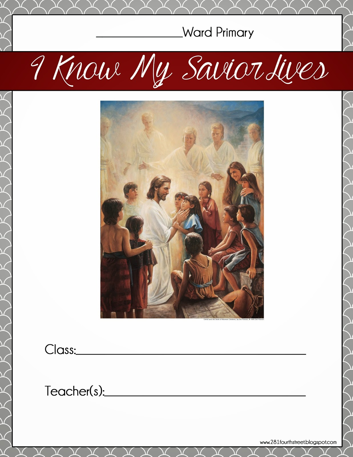 Printable Binder Covers Lds Primary