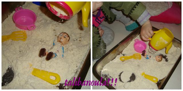 φτιάχνουμε χρωματιστό αφρό και σπιτική άμμο