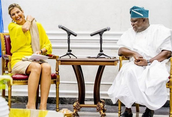 Queen Maxima met with Governor of the state of Lagos, Akinwunmi Ambode