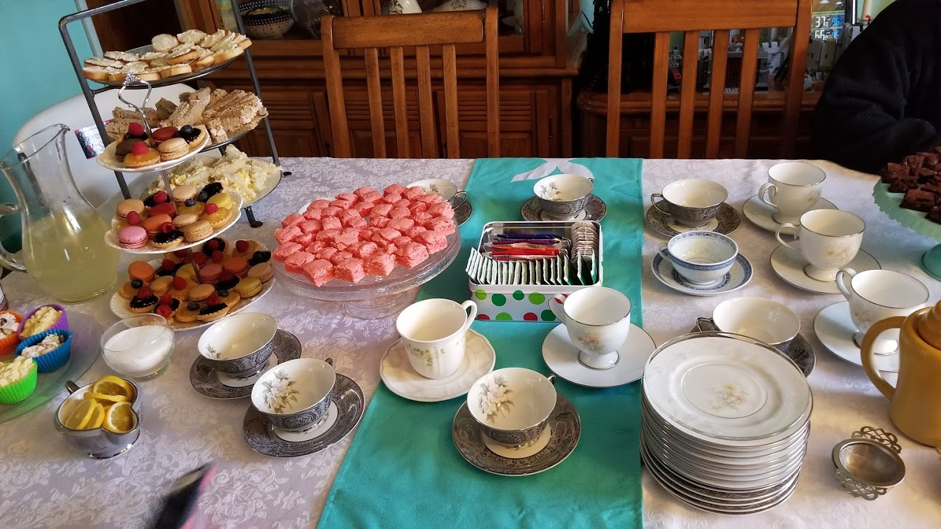tea party, pastries, tea