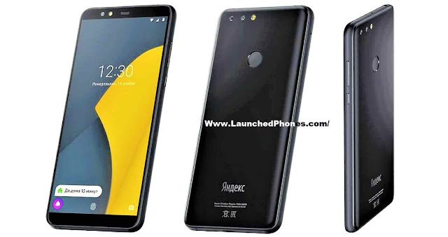 Only Black colouring revealed for this latest mobile telephone of the companionship Yandex.Phone launched alongside the FHD+ Large display