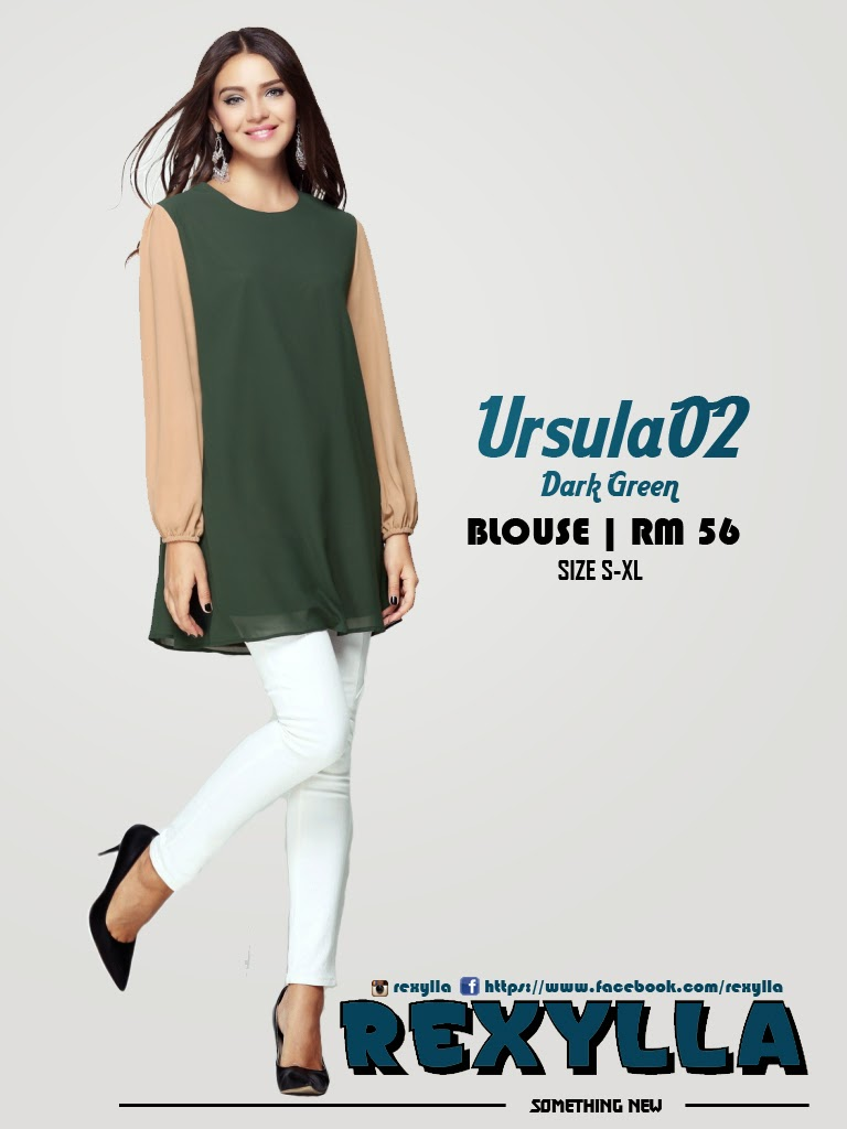 rexylla, blouse, joint colour, ursula02, dark green