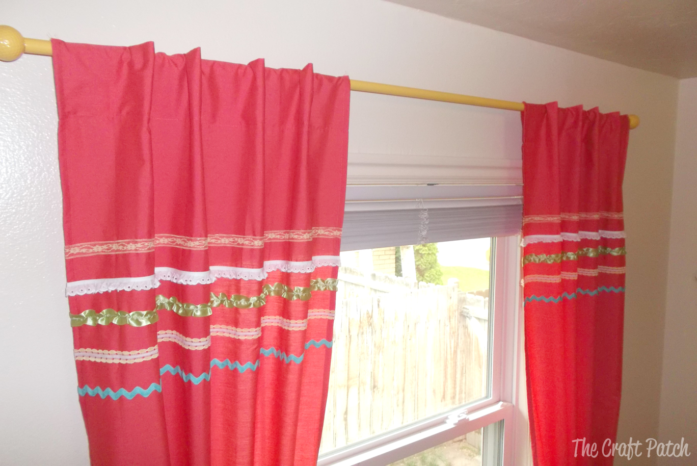 The Cheapest Curtain Rod And Easy Almost No Sew Curtains