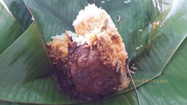 Penampakan nasi itik bumbu merah versi manis