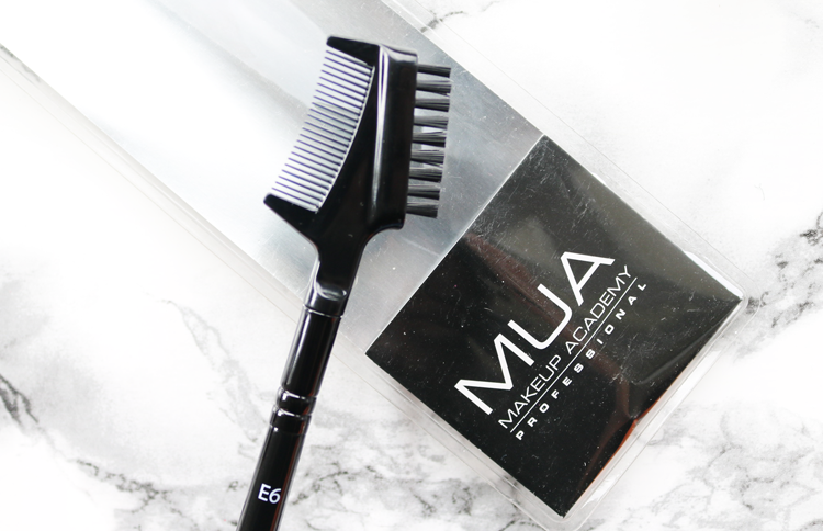 MUA E6 Eyebrow Brush & Eyelash Comb review