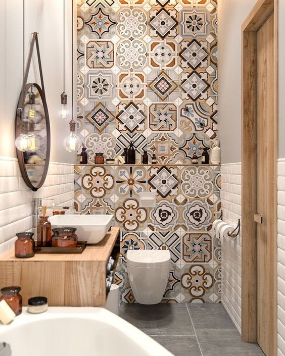 łazienka, mozaika, mozaika marokańska, morrocan tiles, mosaic, bathroom design