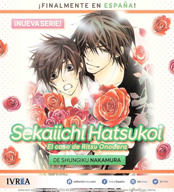 Sekaiichi Hatsukoi manga (Ivrea)