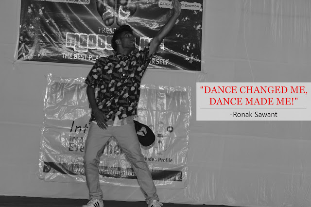 "Cover Photo: ""Dance changed me! Dance made me!"" - Ronak Sawant"