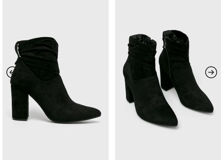 Answear - Botine elegante de catifea pentru iarna cu toc gros online