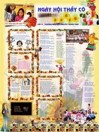 Các mẫu báo tường đẹp cho ngày 20-11 và 26-03