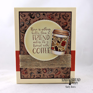 Our Daily Bread Designs Stamp/Die Duos: Hug In  A Mug, Custom Dies: Double Stitched Rectangles, Double Stitched Circles, Paper Collection: Latte Love